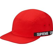 SUPREME Logo Tape Strap Camp Cap Red box logo tnf cdg S/S 16