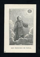 santino litografia 1800  S.FRANCESCO DI PAOLA