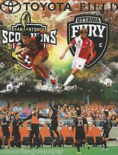 2014 San Antonio Scorpions vs. Ottawa Fury NASL Soccer Program + Full Ticket