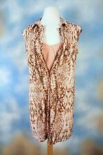 NEW BAR III nude pink snake print two piece shirt dress SZ: L