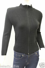 New Ladies Womens Front Zip Funnel Polo Neck Knitted Cardigan Coat Jacket Jumper