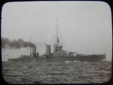 Glass Magic Lantern Slide HMS QUEEN MARY C1910 NAVY PHOTO BATTLECRUISER