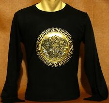 Brand NEW Men's VERSACE Slim Fit Long Slv T-SHIRT Size XL