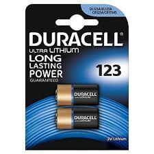 4 X Duracell Ultra CR123 3V Lithium Photo Battery DL123A/CR17345 Expiry 2024
