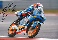 Alex Rins Hand Signed Estrella Galicia 0,0 Honda 12x8 Photo 2014 Moto3 12.