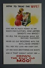 R&L Postcard: Bamforth 531 Arcade Slot Machine, How to Treat the Wife