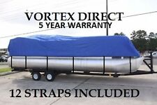 VORTEX 17 - 18  FT ULTRA 3 PURPOSE PONTOON BOAT COVER/BLUE
