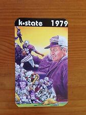 CFB 1979 KANSAS STATE WILDCATS K-STATE Football Schedule FB College