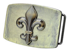 Vintage Design Fleur de Lis Belt Buckle - French Flower Lily