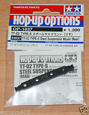 Tamiya 54637 TT-02 Type-S Steel Suspension Mount (Rear) (TT02 Type-S Drift), NIP