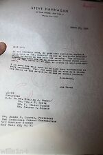 1950 Letter To President Coca-cola  Hobbs for Coke products for Mr. Roberts play
