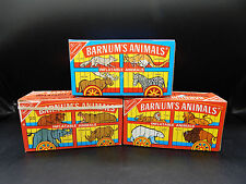 1985 Nabisco BARNUM'S CIRCUS ANIMALS inflatable toys BOX cookie ad TIGER rhino !
