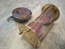 Antique Brass Titanic Compass Sand timer Table Top Decorative Collectible Item