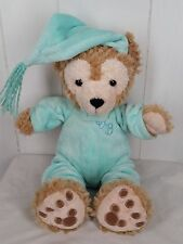 "Disney tan Hidden Mickey Mouse 13"" My First Duffy Bear green Pajamas"
