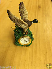 Duck Desk Clock Collectible Christmas Westland Giftware Xmas Wow L@@K Awesome