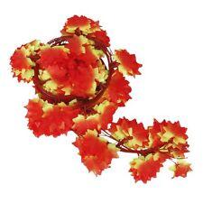 12 x Kuenstliche Efeu Weinlaub Pflanzen zu Hause Dekoration rote Ahornblatt GY
