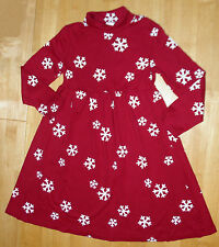 GYMBOREE PENGUIN CHALET RED LS SNOWFLAKE DRESS GIRLS 9 FALL WINTER