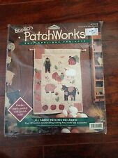 Bucilla's Patchworks Farm 41141 eieio Cross Stitch Kit Sealed