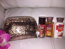 Bath Body Works Wild Madagascar Vanilla Set Travel essentials Mini Bag Mist+wash