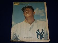 1961 JULY 9 SUNDAY NEW YORK NEWS COLOROTO MAGAZINE MICKEY MANTLE COVER - NP 1888