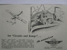 4/47 PUB AUSTER STEEL AEROPLANE AIRCRAFT AVION TRAINER CIRCUIT BUMPS ORIGINAL AD