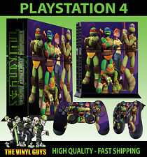 PS4 Skin Nick Toon Teenage Mutant Ninja Turtles Sticker + Pad decals Vinyl STOOD