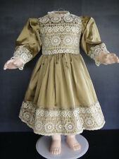 """French Doll Dress - Antique Style for Jumeau,Bru. 24-26""""doll - Made in France."""