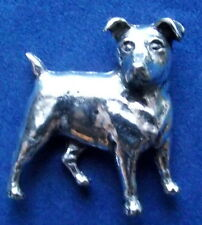 Pewter Jack Russell Terrier Brooch Pin  Quality