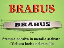 BRABUS MERCEDES SMART Stemma ALLUMINIO CROMATO Badge Logo Emblema Fregio Scritta