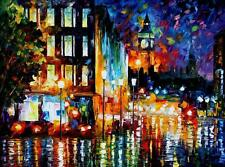 "LONDON'S LIGHTS  —  Oil Painting On Canvas By Leonid Afremov. Size: 40""x30"""