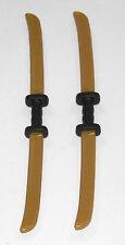2 x KATANA DOPPELSCHWERT GOLD PLAYMOBIL Waffen zu Samurai Ninja Krieger - 1099