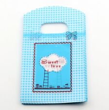 Jewelry Pouches.50pcs 9X15cm  Blue  Sweet Love Plastic Bags Jewelry Gift Bag