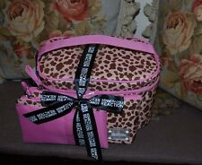 BNWT Beautiful Designer KENNETH COLE REACTION 3 Piece Leopard/Pink Cosmetic Bags