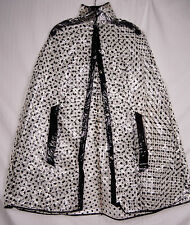 Fun 60s See Through Vinyl Rain Cape Polkadot