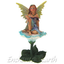 NEW FAIRY GARDEN FLOWER  FAIRY/ MINITURE GARDEN FAIRY & FLOWER (CONVOVULUS) 11CM