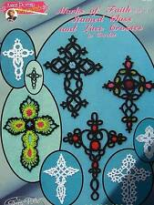 Crochet Stained Glass & Lace Crosses  Marks Of Faith # 4  Annie Potter Original
