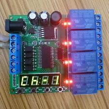 5v 9v 12v 24v 4-channel Verzögerungsrelais delay relay LED time timer Zeitrelais