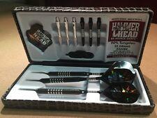 Hammer Head Knurled 22g Steel Tip Darts 90% Tungsten 2242BK w/ FREE Shipping