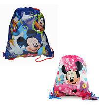 12 DISNEY MICKEY & MINNIE MOUSE Drawstring Sling Bag Tote Backpack PARTY FAVORS!