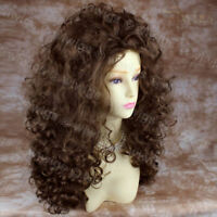 AMAZING SEXY Wild Untamed Long Curly Wig Light Brown Ladies Wigs+gift earrings