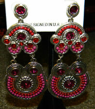 New Sexy Hit Pink Large Gypsy Chandelier India Tribal Ethnic Earrings