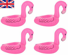4x Inflatable Pink Flamingo Floating Drink Can Holder Hot Tub Pool Bath Assesory