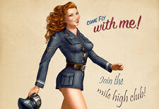 Mile high Club Come fly with me Poster Print