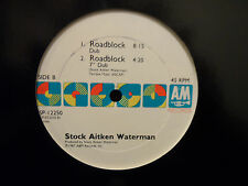 "Stock Aitken Waterman - Roadblock 12"" Single with Extended Ver NEAR MINT Cond"