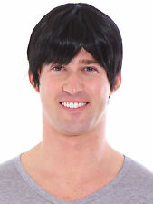 Men Male Handsome Stylish Natural Black Cosplay Costume Short Layered Wig