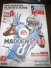 Madden NFL 13 : The Official Player's Guide by Gamer Media Inc (2012, Paperback)