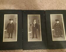 Vintage 1900's Little Boys Photos lot of 3 in great condition