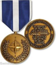 NATO KOSOVO IN SERVICE OF PEACE AND FREEDOM FULL SIZE MEDAL  MADE IN USA
