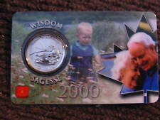 CANADA 2000 25 CENT WISDOM COIN SEALED IN RARE  ROYAL CANADIAN MINT CARD