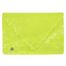 Rock & Religion Womens Sequin Clutch Glitzy Evening Party Hand Bag - Neon Lime
